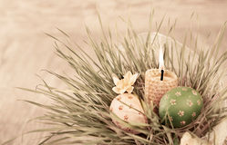 Easter decorations, toned image Royalty Free Stock Images