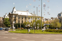 Easter Decorations On University Square Royalty Free Stock Photography