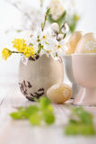 Easter decorations in warm tones Royalty Free Stock Photography