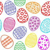 Easter decorative eggs pattern seamless Royalty Free Stock Images