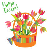 Easter decorative elements in a triangular style Stock Photos