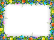 Easter Decorative Frame Stock Image