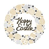 Easter decorative round card Stock Image
