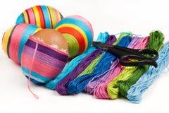 Easter decorou escudos de ovo Fotos de Stock