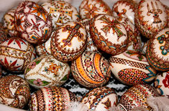 Easter decorou ovos fotografia de stock royalty free