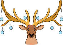 Easter Deer Stock Image