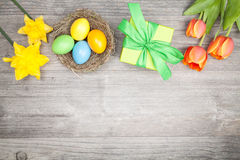 Easter dekoration and present Stock Photography