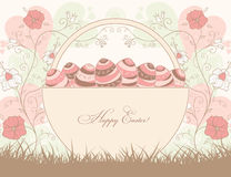 Easter design with basket Stock Image