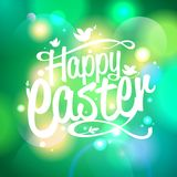 Easter design on a bokeh lights background. Stock Photo