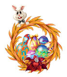 An easter design border Stock Images