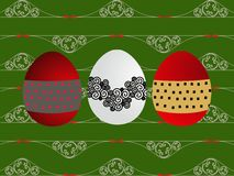Eggs decorated royalty free illustration