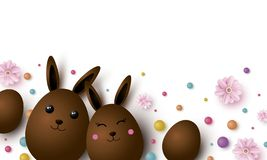 Easter design with copy space vector illustration royalty free stock image