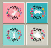 Easter design with cute banny greeting cards, invitations Stock Photography