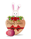 Easter design with Easter Bunny and Easter egg Stock Photos