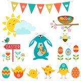 Easter design elements stock illustration
