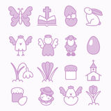 Easter design elements. Collection of vector easter design elements Royalty Free Stock Photo