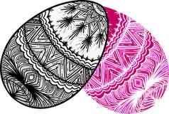Easter design elements. Two ornamental eggs. Easter design elements vector illustration