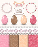 Easter design elements. Vector illustration Royalty Free Stock Photo