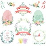 Easter Design Elements. A Vector Illustration of Easter Design Elements Royalty Free Stock Photos