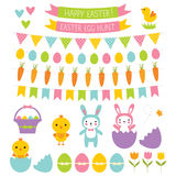 Easter design elements. Easter vector isolated design elements Stock Photo