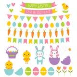 Easter design elements. Easter vector isolated design elements royalty free illustration