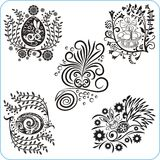 Easter Design - vector set floral symbols Royalty Free Stock Image