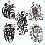 Easter Design - vector set floral symbols Royalty Free Stock Photography