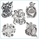 Easter Design - vector set floral symbols Stock Images