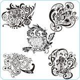 Easter Design - vector set floral symbols Stock Photos