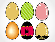 Easter designer eggs set Royalty Free Stock Photos