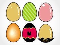 Easter designer eggs set Royalty Free Stock Photos