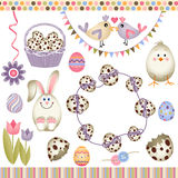 Easter digital elements Royalty Free Stock Photography