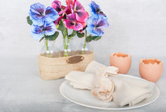 Easter dinner decoration Royalty Free Stock Images