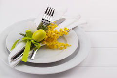 Easter dinner table setting Royalty Free Stock Photography