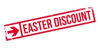 Easter Discount rubber stamp Royalty Free Stock Image