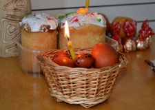 Easter dishes. Royalty Free Stock Images