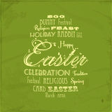 Easter distressed background on green Stock Photo
