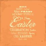 Easter distressed background on orange Stock Image