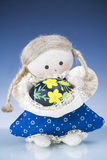 Easter Doll and Egg Royalty Free Stock Photography