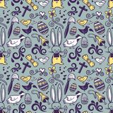 Easter doodle pattern Stock Image
