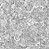 Easter doodles vector seamless pattern Royalty Free Stock Photos