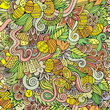 Easter doodles vector seamless pattern Royalty Free Stock Photo
