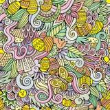 Easter doodles vector seamless pattern Stock Photos