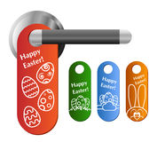 Easter door hanger set Stock Images