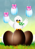 Easter dove Royalty Free Stock Image