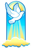 Easter dove. Dove is The Holy Spirit, Christian Trinity symbol Royalty Free Stock Image