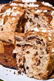 Easter dove closeup. Colomba pasquale (Easter Dove). It is a typical italian eastern cake. It is similar to panettone and has the shape of a dove Royalty Free Stock Photos