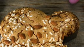 Panning of Colomba di Pasqua, Easter dove - Italian traditional Easter cake stock video footage