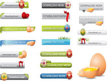 Easter download buttons Stock Image