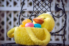 Easter duck basket Royalty Free Stock Photos